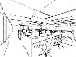 bureau dessin décrire croquis perspective de dessin d un bureau de l espace