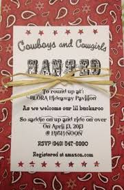 2555r western bandana baby shower invitation barbecue baby