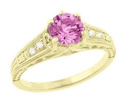 vintage pink sapphire engagement rings antique jewelry mall