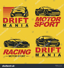 sports car logos set four sport cars logo badge stock vector 437202940 shutterstock