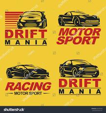set four sport cars logo badge stock vector 437202940 shutterstock