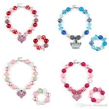 beads necklace handmade images Hot handmade beads girl kids party accessories princess jewelry jpg