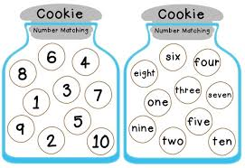cookie jar number matching free printable totschooling toddler