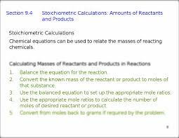writing and balancing the equation for a chemical reaction 5