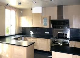 cuisine bois plan de travail noir plan de travail cuisine noir carrelage pour plan de travail