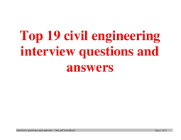 top civil engineering interview questions and answers job interview t u2026