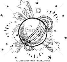 vector clipart of retro disco ball sketch doodle style retro