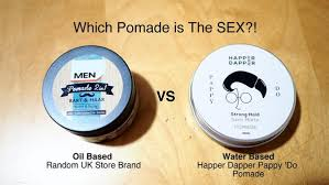 Pomade Air which is the based vs water based pomades happer dapper
