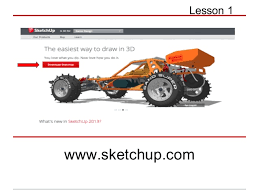 sketchup lesson 1