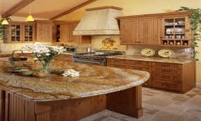 Cherry Kitchen Cabinets With Granite Countertops Blue Granite Countertops Kitchen Cherry Kitchen Cabinets Country