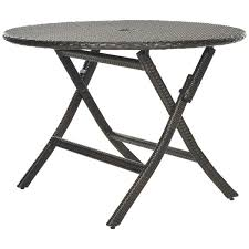 Folding Patio Dining Table Outdoor Folding Table Metal Celebrate The Day With Outdoor