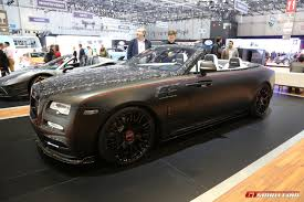 roll royce dawn black mansory rolls royce dawn at geneva auto show 2017 exotic