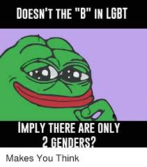 Lgbt Meme - doesn t the b in lgbt imply there are only 2 genders lgbt meme on
