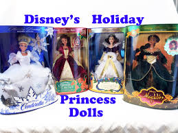 disney holiday princess dolls collection cinderella belle snow