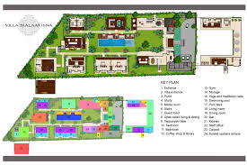 floor plan villa malaathina luxury umalas bali with 7 house plans