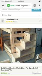 Plans For Toddler Loft Bed by Bunk Bed With Stairs Plans Kids Pinterest Drawers Stair