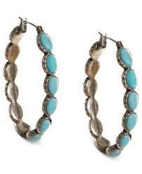 earrings brand lucky brand earrings reconstituted turquoise hoop earrings