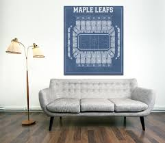 vintage print of the maple leafs u0027 maple leaf gardens seating chart
