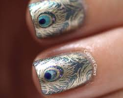 copycat claws my first blog post peacock nails