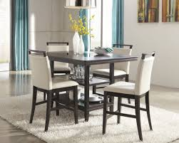 Tall Dining Room Set Square Counter Height Diningt Appealing For Table With Leaf Black