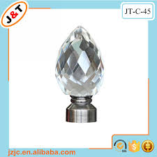 Glass Curtain Rod Best Selling Popular Design Crystal Ball Curtain Pole Curtain Rod