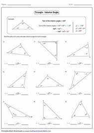 finding missing angles in triangles worksheet find all angles worksheets math worksheets