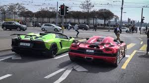koenigsegg vs lamborghini aventador lamborghini aventador roadster koenigsegg agera r in zürich