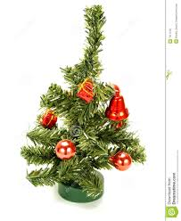 nice small christmas tree with red decoration royalty free stock