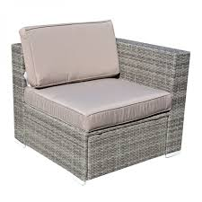Cushion Covers For Patio Furniture - new 6pc furniture outdoor patio aluminum sectional pe wicker