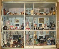 dolls house interiors close up of doll s house interior stock