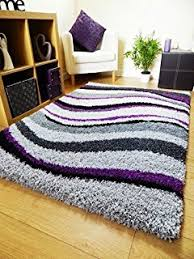 Modern Purple Rugs New Modern Purple Silver Black Thick Heavy Silky Soft Luxurious