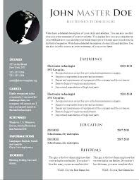 downloadable resume templates word resume templates word 2010 for cover letter curriculum