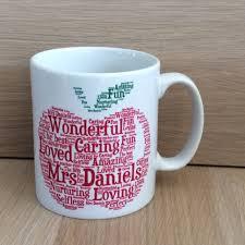 Amazing Mugs by Personalised Shape Word Art Mugs