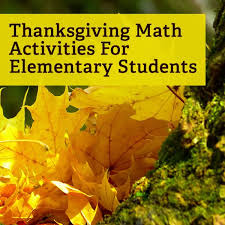 thanksgiving lesson plans and activities for elementary math