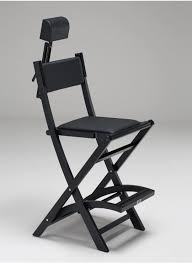 Portable Hair And Makeup Stations Wood And Aluminum Makeup Foldable Cantoni Chairs
