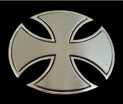 iron maltese celtic cross belt buckle cross metalcross