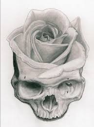 skull and flower by misseymarine on deviantart