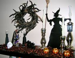 witch themed halloween decorations shadow themed halloween