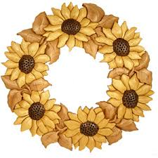 sunflower wreath sunflower wreath intarsia pattern ps wood machines