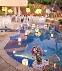 Wedding Reception Decorations Lights Best 25 Pool Wedding Ideas On Pinterest Floating Pool Lights