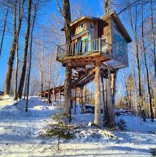 it looks like an ordinary treehouse but then i looked inside