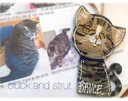 custom cat ornament etsy