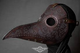 leather plague doctor mask brown plague doctor mask with engraving by lahmattea on deviantart
