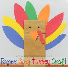 paper bag handprint turkey puppet crafts for puppet crafts