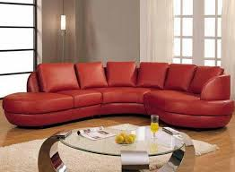 Leather Sectional Sofa Chaise Gorgeous Red Leather Sectional Sofa With Chaise And Small Round