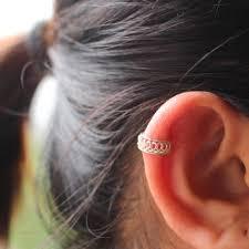 cartilage cuff earrings shop simple silver ear cuff on wanelo