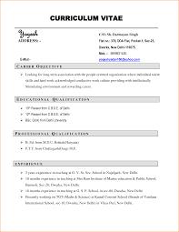 format of carriculum vitae gallery of 4 samples of curriculum vitae for job application basic