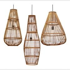 Wicker Pendant Light Large Bamboo Pendant Light Rattan Furniture Loft