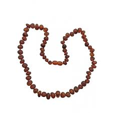 baby bead necklace images Raw cognac baby teething necklace jpg