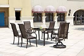 coronado rectangular dining table amazon com coronado 7 piece dining set outdoor and patio